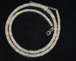 37.20 CT  OPAL NECKLACE MADE WITH NATURAL ETHIOPIAN BEADS OBJ-104