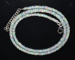 34.30 CT OPAL NECKLACE MADE WITH NATURAL ETHIOPIAN BEADS OBJ-105