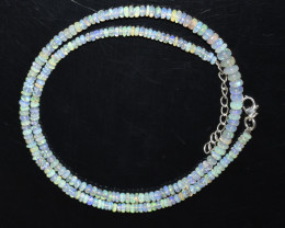 33.10 CT OPAL NECKLACE MADE WITH NATURAL ETHIOPIAN BEADS OBJ-107