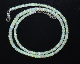 34.95 CT OPAL NECKLACE MADE WITH NATURAL ETHIOPIAN BEADS OBJ-109