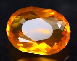 Mexican Fire Opal 4.82Ct Master Piece of Designer Cut Orange Fire Opal H109