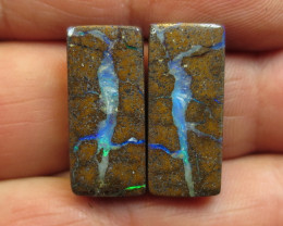 29cts, BOULDER OPAL~UNIQUE PAIR.