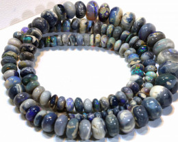 100 CTS   BLACK OPAL BEAD NECKLACE TBO -905