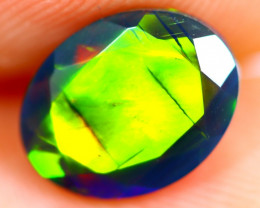 1.07cts Natural Ethiopian Smoked Faceted Black Opal / BF1170