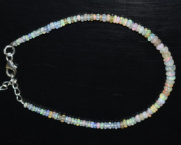 12.15 CT OPAL BRACELET MADE WITH NATURAL ETHIOPIAN BEADS STERLING SILVER OB