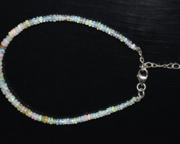 12.45 CT OPAL BRACELET MADE WITH NATURAL ETHIOPIAN BEADS STERLING SILVER OB