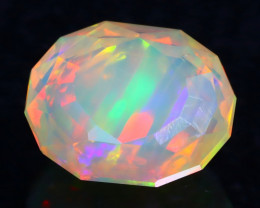 Rainbow Tube Color 2.50Ct Master Piece of Designer Cut Welo Opal H121