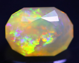 Multi Pattern 2.54Ct Master Piece of Designer Cut Bright Welo Opal H151