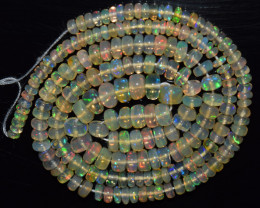 34.70 Ct Natural Ethiopian Welo Opal Beads Play Of Color OB999