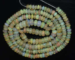 33.00 Ct Natural Ethiopian Welo Opal Beads Play Of Color OB1002
