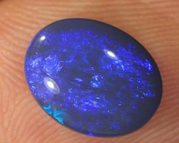 2.15ct 10.5x8mm Solid Lightning Ridge Dark Opal [LO-2095]