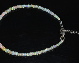 12.20 CT OPAL BRACELET MADE WITH NATURAL ETHIOPIAN BEADS STERLING SILVER OB