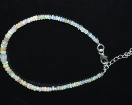 12.70 CT OPAL BRACELET MADE WITH NATURAL ETHIOPIAN BEADS STERLING SILVER OB