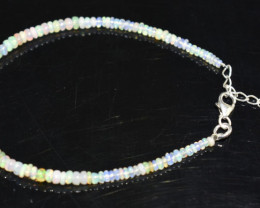 12.55 CT OPAL BRACELET MADE WITH NATURAL ETHIOPIAN BEADS STERLING SILVER OB