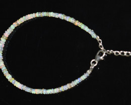 11.85 CT OPAL BRACELET MADE WITH NATURAL ETHIOPIAN BEADS STERLING SILVER OB