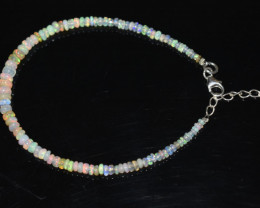 13.50 CT OPAL BRACELET MADE WITH NATURAL ETHIOPIAN BEADS STERLING SILVER OB
