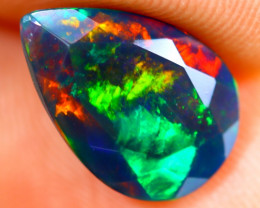 2.10cts Natural Ethiopian Smoked Faceted Black Opal / BF1239