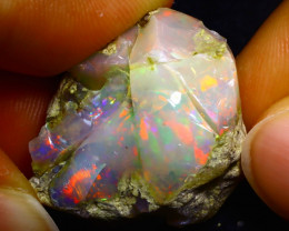 32.42Ct Bright Color Play Ethiopian Welo Opal Rough GR09