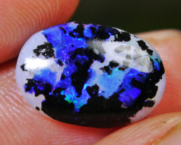 5.05 CT RARE!! Beautiful Dalmatians Motif Blue Ocean Indonesian Opal