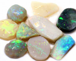 32.35 CTS - BLACK OPAL ROUGH PARCEL  8PCS DT-7407