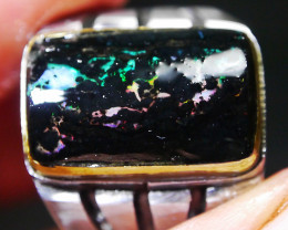 32.70 CT Indonesian Wood Fossil Opal Jewelry RIng