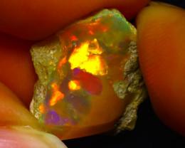 6.69Ct Multi Color Play Ethiopian Welo Opal Rough G0901