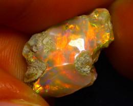 6.95Ct Multi Color Play Ethiopian Welo Opal Rough G0902