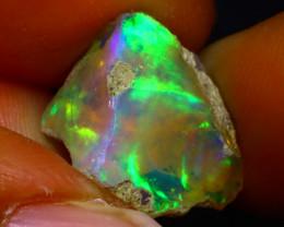 6.14Ct Multi Color Play Ethiopian Welo Opal Rough G0904