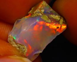 5.55Ct Multi Color Play Ethiopian Welo Opal Rough G0907