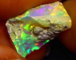 5.65Ct Multi Color Play Ethiopian Welo Opal Rough G0912