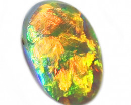 0.50CT BLACK  CRYSTAL OPAL STONE LIGHTNING RIDGE [CS169]