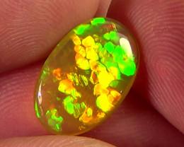 2.70 cts Ethiopian Welo HONEYCOMB STRAW brilliant crystal opal N9 5/5