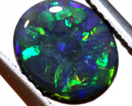N1 - 1.33 CTS QUALITY BLACK OPAL POLISHED STONE  INV-OPM 174