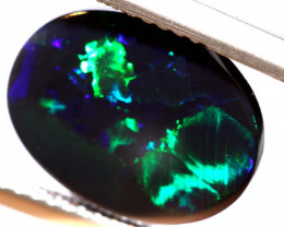 N1 -  3.60CTS QUALITY BLACK OPAL POLISHED STONE  INV-OPM 833