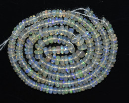 28.95 Ct Natural Ethiopian Welo Opal Beads Play Of Color OB1004