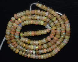 33.65 Ct Natural Ethiopian Welo Opal Beads Play Of Color OB1010
