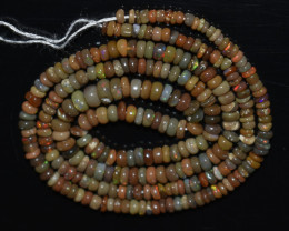 23.70 Ct Natural Ethiopian Welo Opal Beads Play Of Color OB1012