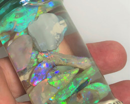 113 carats of bright crystal opal