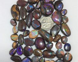 48 pieces of Koroit Matrix opal and Crystal centres