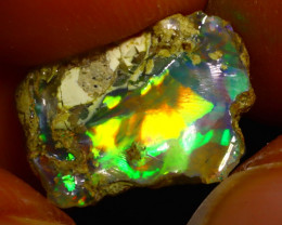 5.69Ct Multi Color Play Ethiopian Welo Opal Rough F1418
