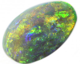 4.90CTS  SEMI   BLACK OPAL STONE LIGHTNING RIDGE [CS186]