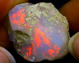 33.12Ct Bright Color Play Ethiopian Welo Opal Rough GR21