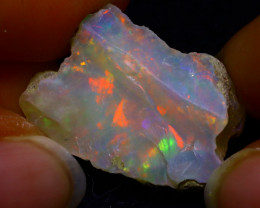 15.19Ct Bright Color Play Ethiopian Welo Opal Rough GR29