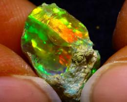 7.38Ct Multi Color Play Ethiopian Welo Opal Rough G1522