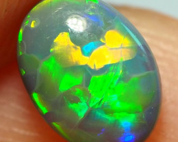 0.45CT SOLID LIGHTNING RIDGE BLACK OPAL  ST434
