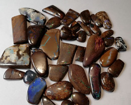 524 cts, 37 pieces polished  natural solid boulder opal parcel