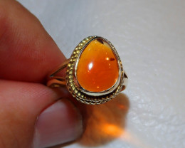 7sz Mexican Multicoloured Fire Opal Ring