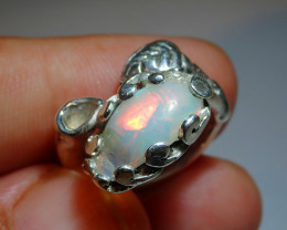 6sz Ethiopian Welo Solid Opal .925 Sterling Ring