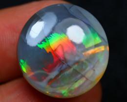 Rare Black Opal 30.56Ct Natural Untreated Ethiopian Black Opal H1104