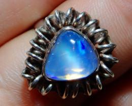 7.5sz Ethiopian Welo Solid Opal .925 Sterling Ring